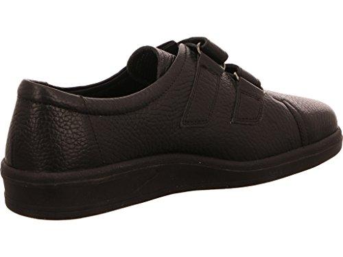 ARA Damen Klettverschluss Leder Weite G 47702-01 Einlagen geeignet Schwarz