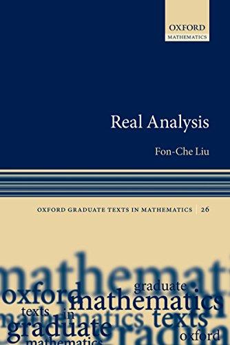 Real Analysis (Oxford Graduate Texts in Mathematics)