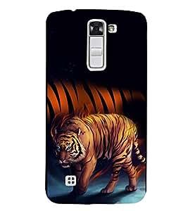 Fuson Premium Tiger Stripes Printed Hard Plastic Back Case Cover for LG K7