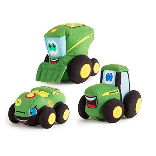 TOMY Johnny Traktor und Freunde 17,8cm Plüsch, Fahrzeug kann variieren