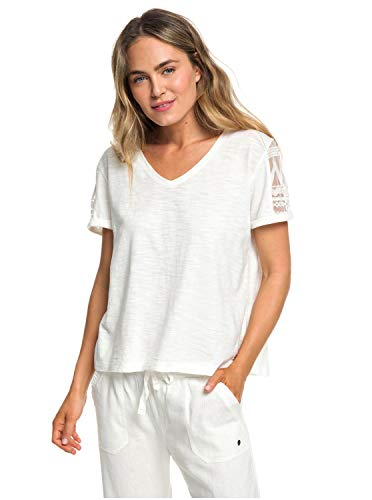 Roxy Turn Around Me Knit Top Femme, Marshmallow, FR : S (Taille Fabricant : Small)
