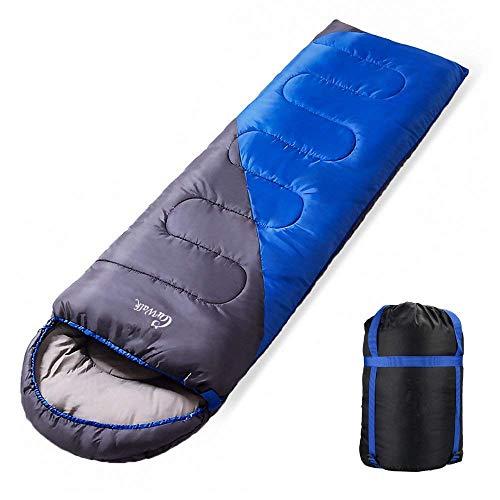 Schlafsack - Pulnda 3 Season Ultralight Schlafsack, leichte Reisen Backpacking Zelt / Hängematte Camping Schlafsystem - Stuff Sack mit Kompressionsgurte enthalten(190+30)*75(1.8kg) 1.8 Manual