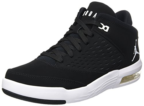 Nike Herren Jordan Flight Origin 4 Basketballschuhe, Schwarz (Black/White/Gym Red), 44 EU (Flight Herren Nike)