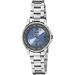 Casio ltp-1391d-2 - Wristwatch for women, Blue and Silver