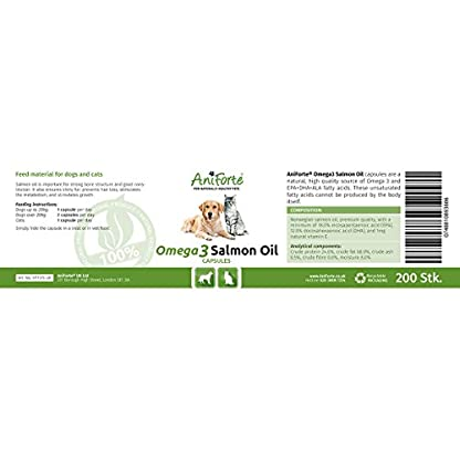 AniForte Premium Salmon Oil for Dogs & Cats, 200 Tablets - 100% Natural Norwegian Fish Oil Supplement With Omega 3, 6… 2