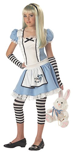 Girls Tween Alice Costume, Blue/White, Large (Alice Tween Kostüm)
