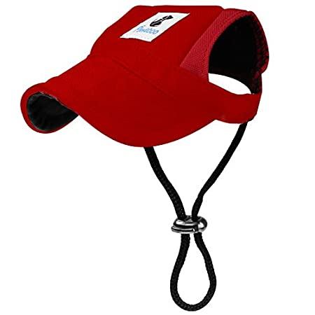 Pawaboo Hunde Baseballmütze, Basecap Verstellbar Sonnenschutz Hut Hundecap mit Ohrlöchern für Welpen Haustier