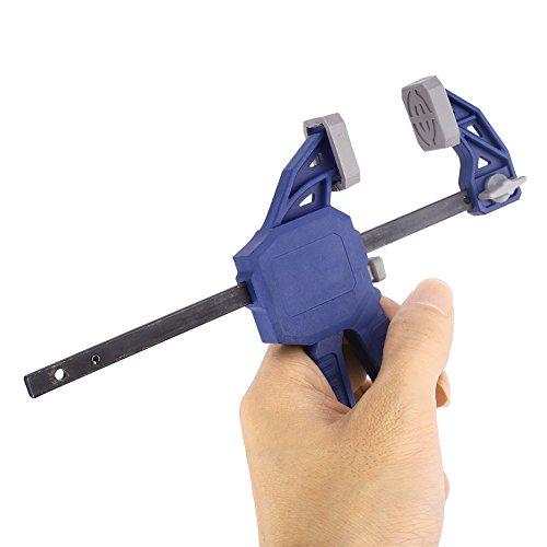 Form Spreader (Beautyrain 1 Stück 4 Zoll F Form Schnellspanner Holzklammern Spreader Zimmerei Harter Grip tragbar)