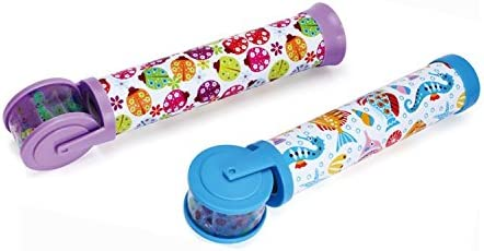 Inventis (TM) Premium Imported Kids Roller Kaleidoscope children Gifting Birthday Return Gift Fun Colorful Pattern by Rolling ( Assorted Colors )