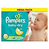 Pampers Baby Dry Gr. 4+ Maxi Plus 9–20kg (80)