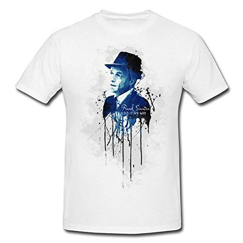 Frank Sinatra Premium Herren T-Shirt Motiv aus Paul Sinus Aquarell (T-shirts Von Paul Frank)