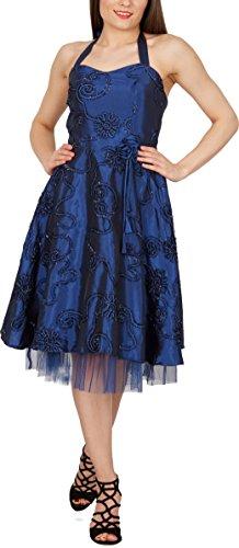 Black Butterfly 'Rita' Floral Cherish Abschlussballkleid (Blau, EUR 44 – XL) - 4