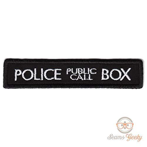 LipaLipaNa Doctor Who Patch - Tardis Police Box - Eisen auf Patch appliziert Andenken Zubehör (Who-tardis-patch Doctor)