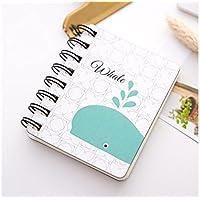 Kelaina Elegante Cuaderno de Vocabulario Creativo Bloc de Notas de Palabras Cuaderno de Notas de Mano Cuaderno Espiral y pequeño (Ballena)