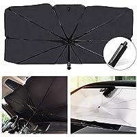 مظلة الشمس شولوفس للزجاج الامامي للسيارة تمنع الاشعة فوق البنفسجية، مظلة شمسية قابلة للطي تبقي السيارة باردة وسهلة التخزين S: 65*125cm KD0155