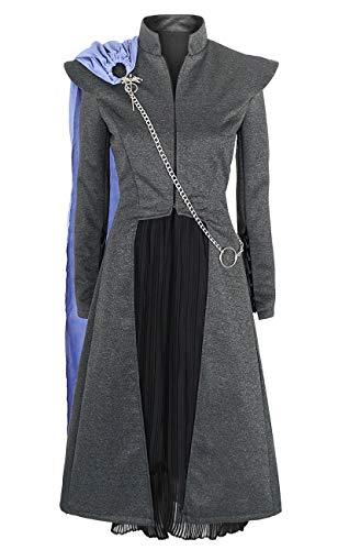KeySmart Cosplay Kostüm Mantel, Rock und Umhang von Daenerys Targaryen aus Staffel 7 Größe: L