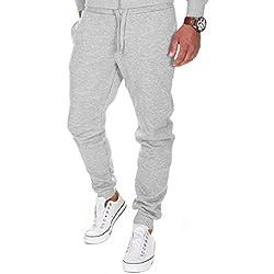 Merish Pantalons de Sport pour Homme Pantalons pour Les Loisirs, Les Sports et la Maison Modell 211 Gris L