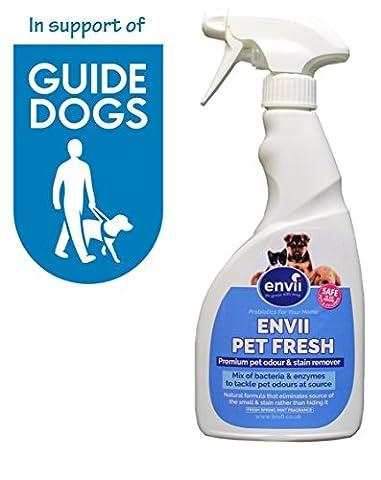 Envii Pet Fresh - Éliminateur de taches et d'odeurs pour tous les animaux domestiques - Solution de désodorisation, pour le vomissement, l'urine et les espaces (750 ml)