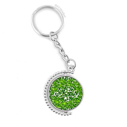 DIYthinker Vier Blatt Irland St.Patrick Tag Drehbare Schlüsselanhänger Ringe 1.2 Zoll x 3.5 Zoll Mehrfarbig -
