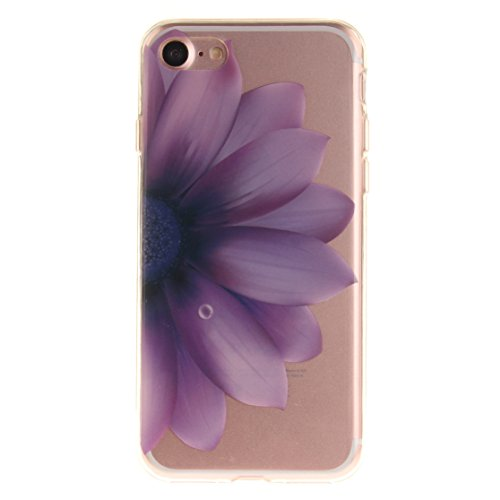 AIXIN Coque Peinture Feather Transparente iphone 35 Etui Silicone,Housse TPU Souple Etui de Protection Silicone Case Soft Gel Cover Anti Rayure Anti Choc Design 06