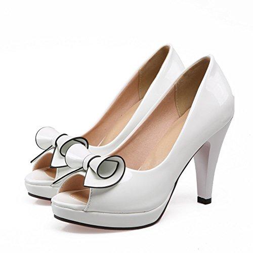Alta Bianco Di Donna Brevetto Mettere Balamasa Su Per Sneakers Sandali Pelle Di 4wHUPXqB