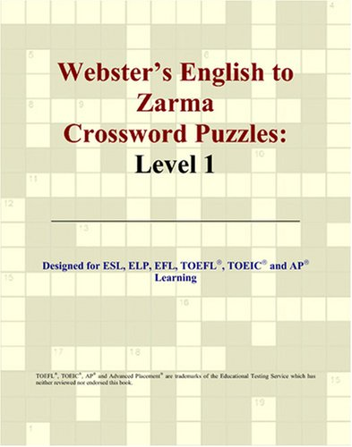 Webster's English to Zarma Crossword Puzzles: Level 1