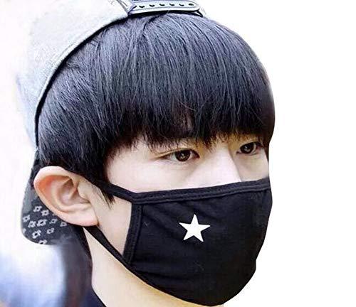 echo-ove 2Unisex Anti-Staub schwarz weiß star Baumwolle Elastic Band Cechya Gesicht Mund Maske Muffel -