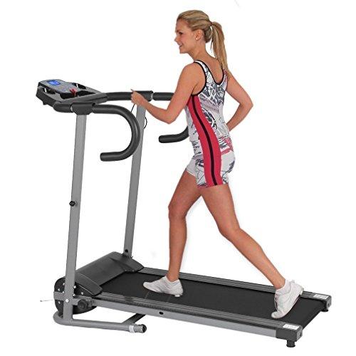 Homgrace Motorisierte Laufband mit LCD-Display Elektrischer Fitnessgerät Lauftrainingsmaschine Hometrainer Fitnessgeräte