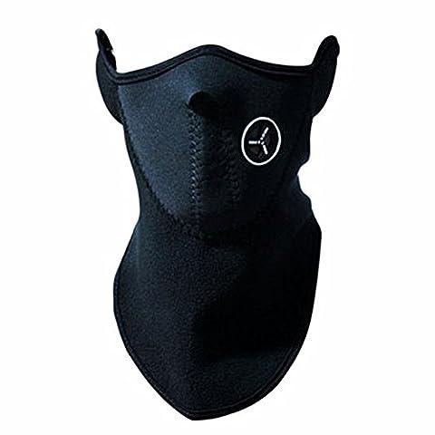 West 19010Sturmhaube demi-visage winddicht atmungsaktiv und widerstandsfähig gegen Staub, für Snowboard, Radfahren, Camping, Wandern, Herren damen Unisex Erwachsene, noir - Noir