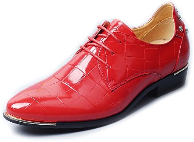 SRY-scarpe Moda Uomo Brunito Smooth PU Leather scarpe Lace Up Square Texture Formale Foderato Oxford | nuovo venuto  | Uomini/Donna Scarpa