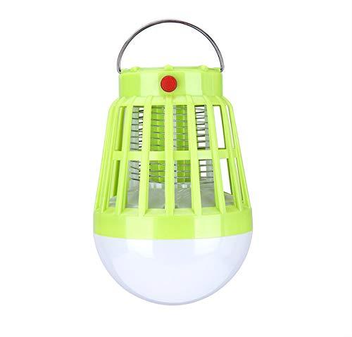 Lampe Anti-Moustique UV Night Light 2-en-1 Camping Lantern Mosquito Zapper Solaire Et USB Power Insect Killer Tente Light Grass Green