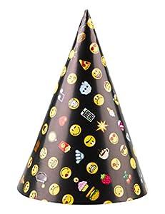 Amscan International 9901296 - Sombreros de fiesta para niños, 8 unidades, diseño de emoticonos sonrientes