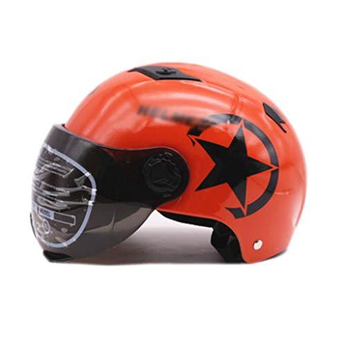 ktrisches Motorrad/Universalschutz Reithalbhelm/Sternenhelm (Color : Orange) ()