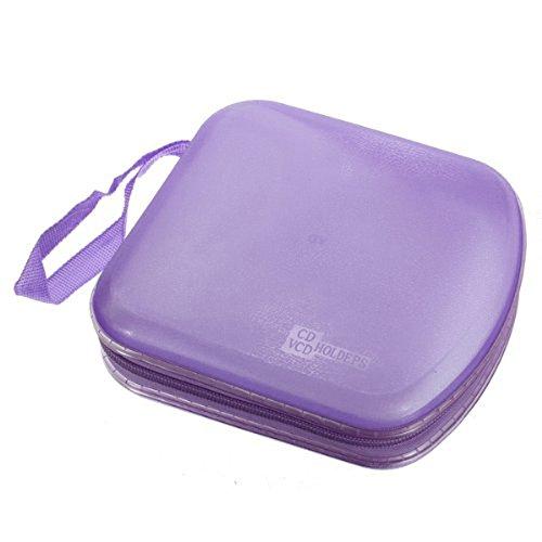 Preisvergleich Produktbild Foxnovo 40X CD DVD VCD Disc Ordner Hülle Aufbewahrung Box Case Etui Tasche Mappe Koffer (Lila)
