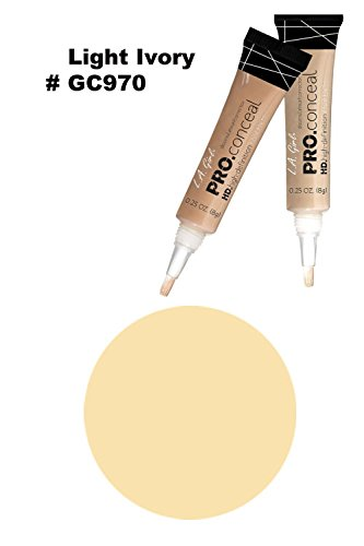 LA Girl Pro High Definition Concealer (1, GC 970 Light Ivory)