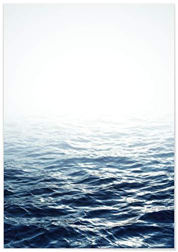 Panorama® Póster Mar en Calma 21 x 30 cm | Láminas Decorativas Pared | Impreso en Papel 250gr | Cuadros Paisajes | Póster Naturaleza | Cuadros Decoración Salón