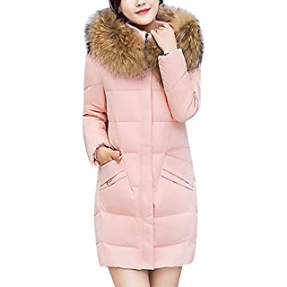 YIHANK Women Hooded Outwear Coat Slim Jacket,Long Thick Faux Fur Collar Cotton ParkaGet Up App Local at Space Burlington Biker Awlgrip Wiki Guys Bed Drop Locations Inc Oven Pink