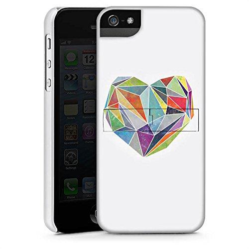 Apple iPhone 5s Housse Étui Protection Coque Amour Amour Amour CasStandup blanc