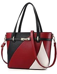 05202617fc SLGJYY Frauen Leder Handtaschen Schultertasche Frauen Casual Tote Bag  Weibliche Patchwork Handtaschen Hohe Qualität Haupt Damen