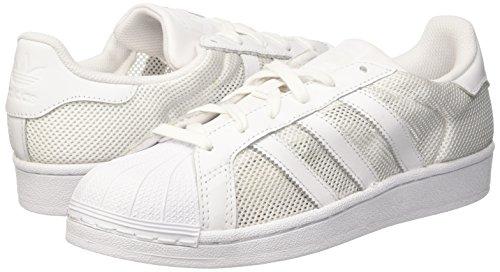 adidas Unisex-Erwachsene Originals Superstar Low-Top, Weiß (Ftwr White/Ftwr White/Ftwr White), 41 1/3 EU -