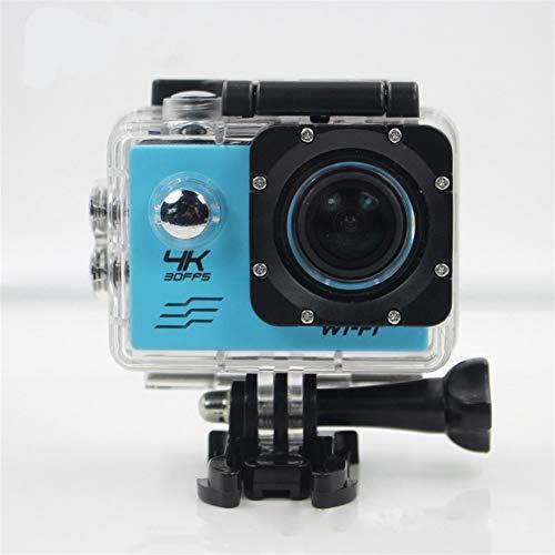 Action-Kamera, 4K Wasserdicht Sport DV WiFi-Fernbedienung 1080P Ultra High Definition 2,0 HD LCD-Bildschirm Sport Im Freien Unterwasserkamera Mit Zubehör-Set (Color : Blue)