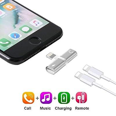 Valentine Tyler Adaptateur Lightning 2 en 1 pour iPhone 7, Casque Audio Adaptateur de Charge. par Valentine Tyler