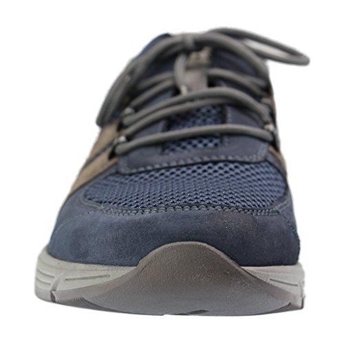 Waldläufer  Haslo, Chaussures de ville à lacets pour homme Blau kombi.