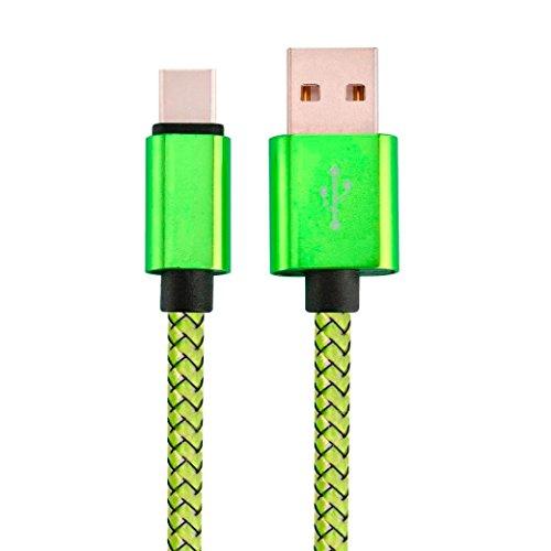 HARRYSTORE 1M USB 3.1 Typ C Datenladung Aufladen Kabel für ZTE Zmax Pro Z981 / Google Pixel XL (Grün)
