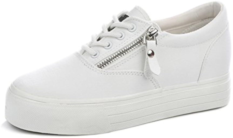 Zapatos de enfermera blancos/Aumentado en los zapatos de plataforma con suela gruesa/zapatos casuales