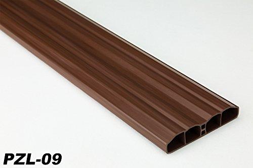 30 Meter PVC Zaunlatten Kunststoff Profile Bretter Gartenzaun 80x16mm, PZL-09