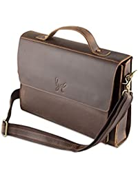 ROHIT BAL Men's Antique Finish Brown Leather Bag