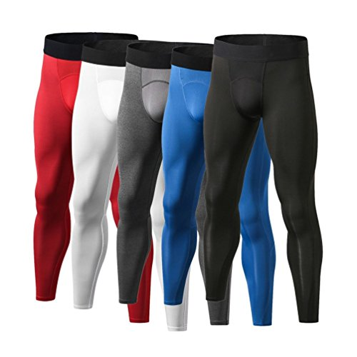Gugutogo Yuerlian Breathable Men Compression Pants Quick Drying Running Skinny Leggings