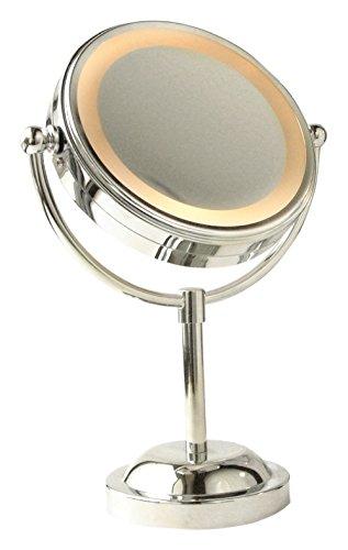 Boutique Beauté 90 Miroir sur Pied Chromé avec Lumière