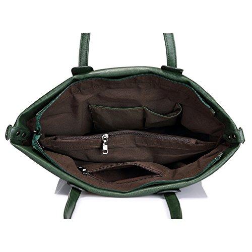 Sacchetti di borsa per il sacchetto di spalla della borsa della borsa delle donne con fascino della nappa Army Green